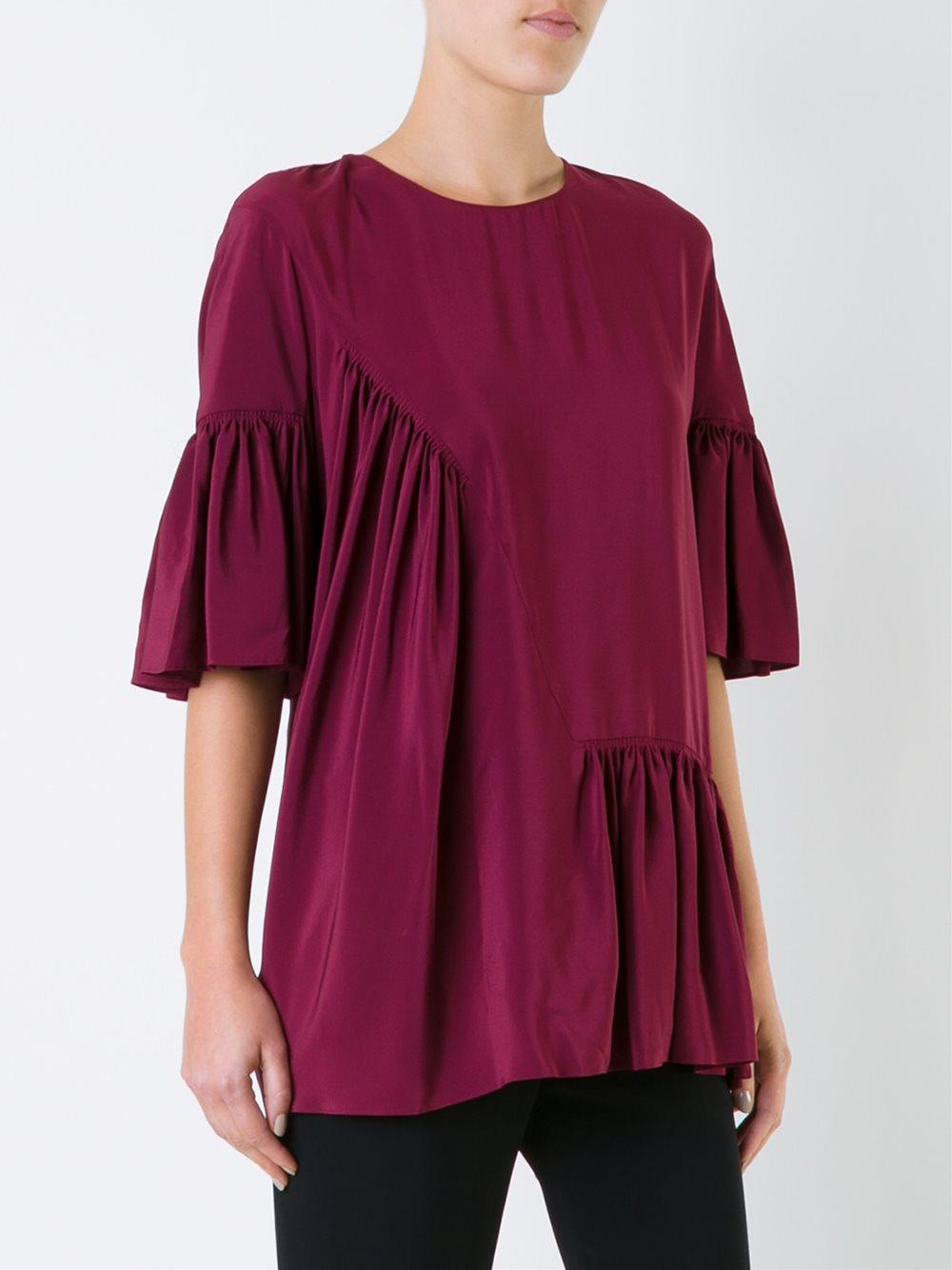 ruffled detail top - Red Stella McCartney Cheap Amazon Fast Delivery Sale Online 2018 Online 2018 Unisex Sale Online Sale Fake toG06l