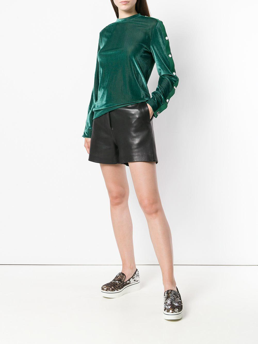 Love Moschino Synthetic Velvet Sweater in Green