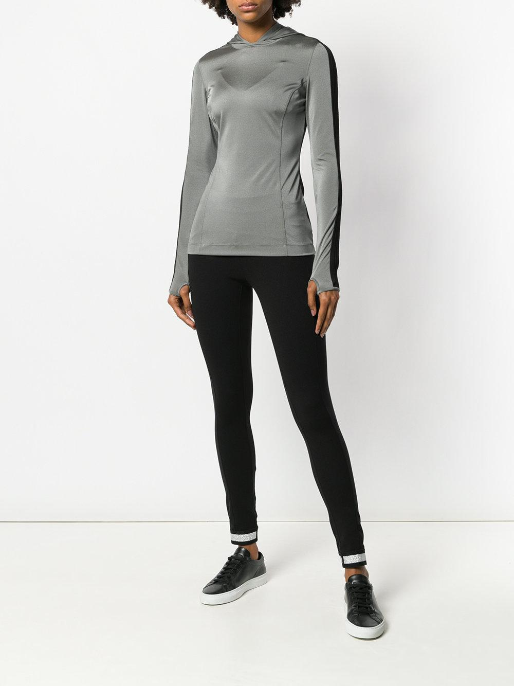 NO KA 'OI Synthetic Hooded Sports Top in Grey (Grey)