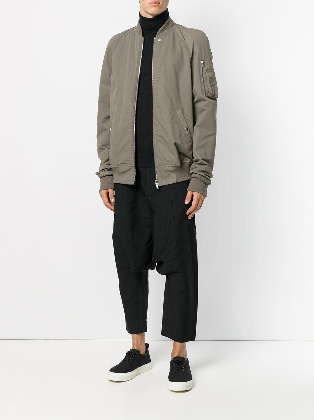 Comme des Garçons Synthetic Drop Crotch Cropped Trousers in Black for Men