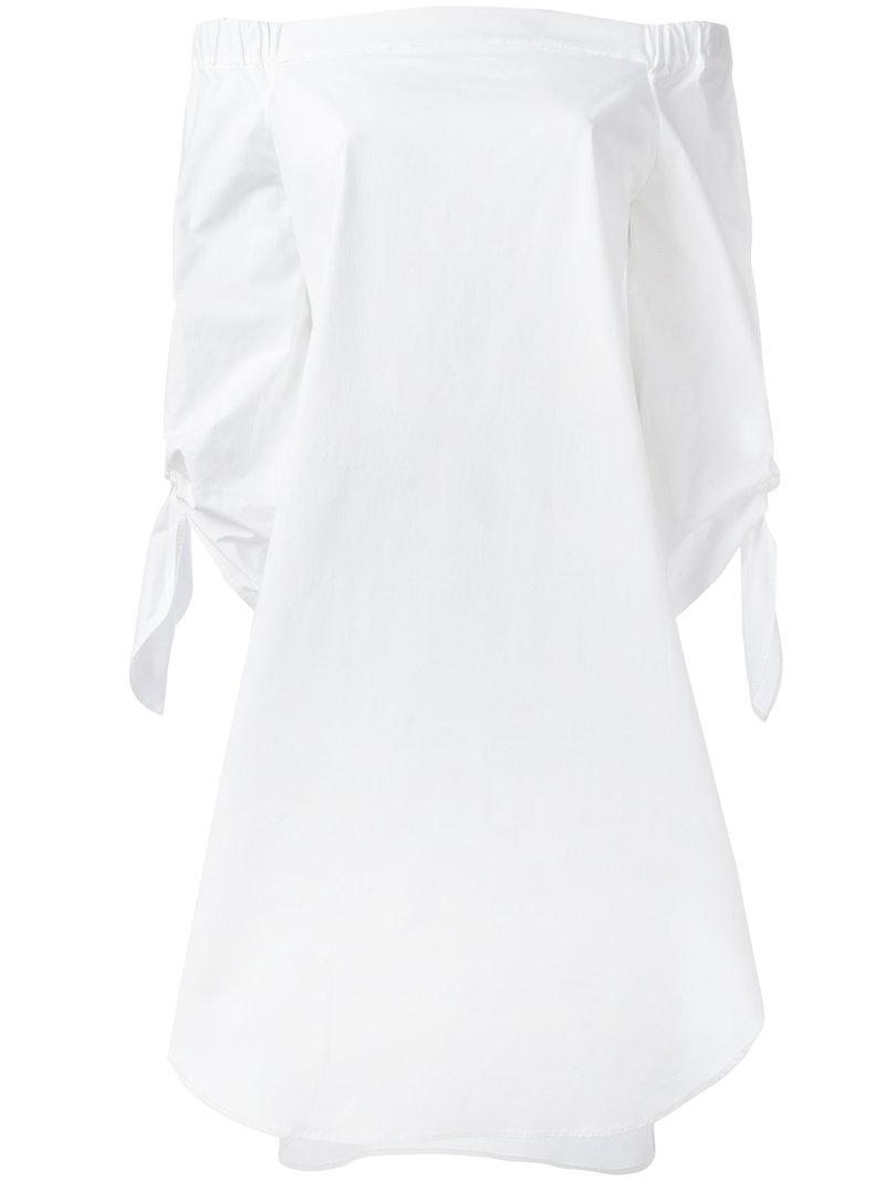 Buy Cheap Countdown Package Sale Explore off-shoulders shift dress - White Erika Cavallini Semi Couture 100% Authentic Sale Online Discount 100% Guaranteed bVAyeKx