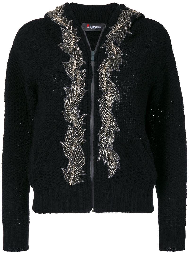 embellished hooded cardigan - Black JO NO FUI Footaction For Sale 2018 Unisex Cheap Online Sale Hot Sale b6834xN