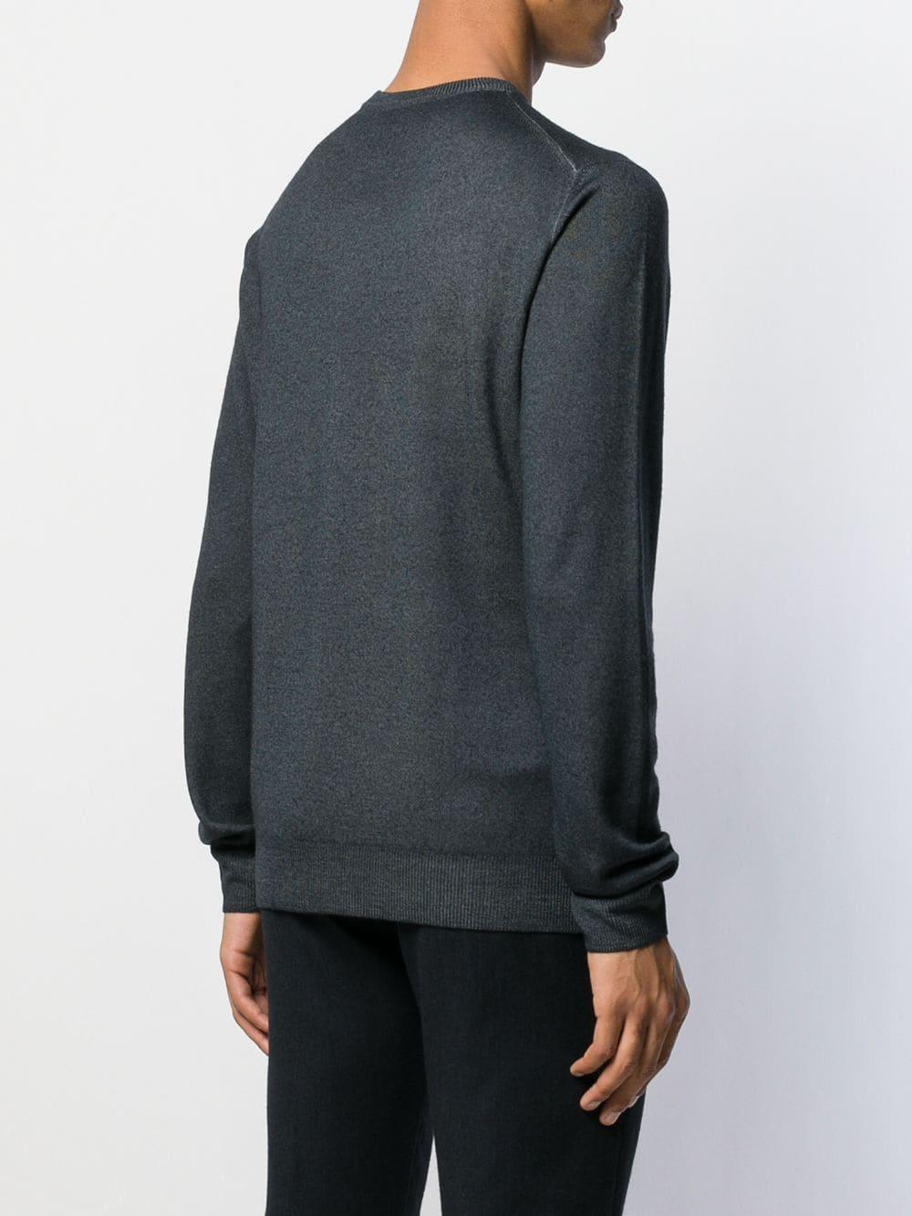 Etro Wol Casual Sweater in het Grijs voor heren