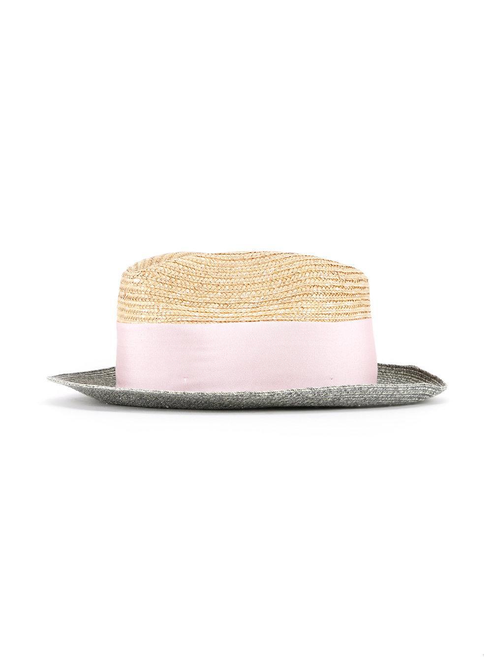 Lyst - Sombrero con diseño en contraste Federica Moretti de color Rosa 1de21090755