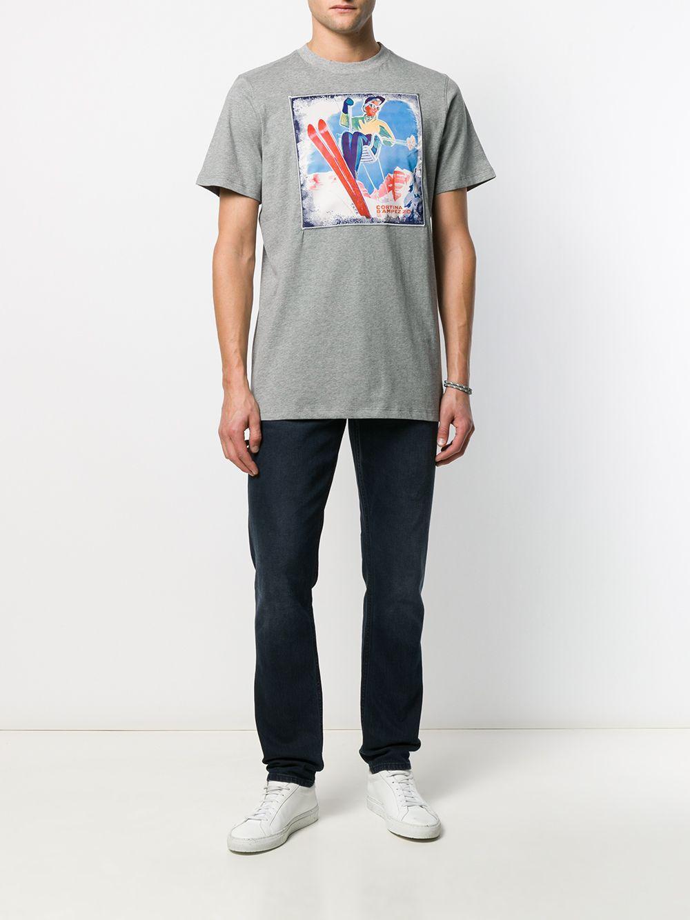 Fefe T-shirt Met Print in het Grijs voor heren