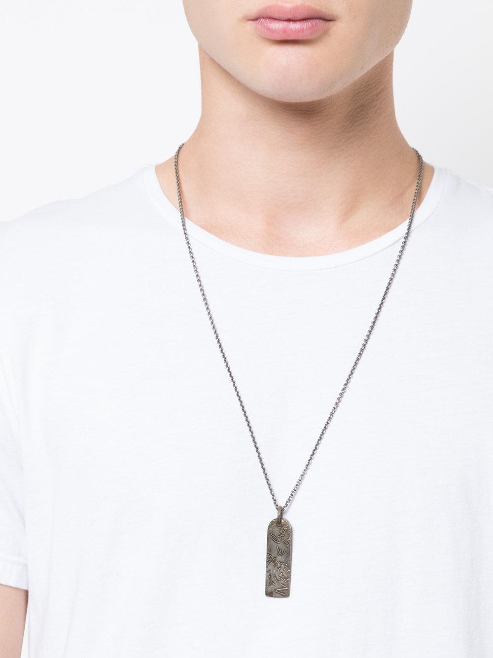 Werkstatt:münchen Urban Traces Necklace in Metallic