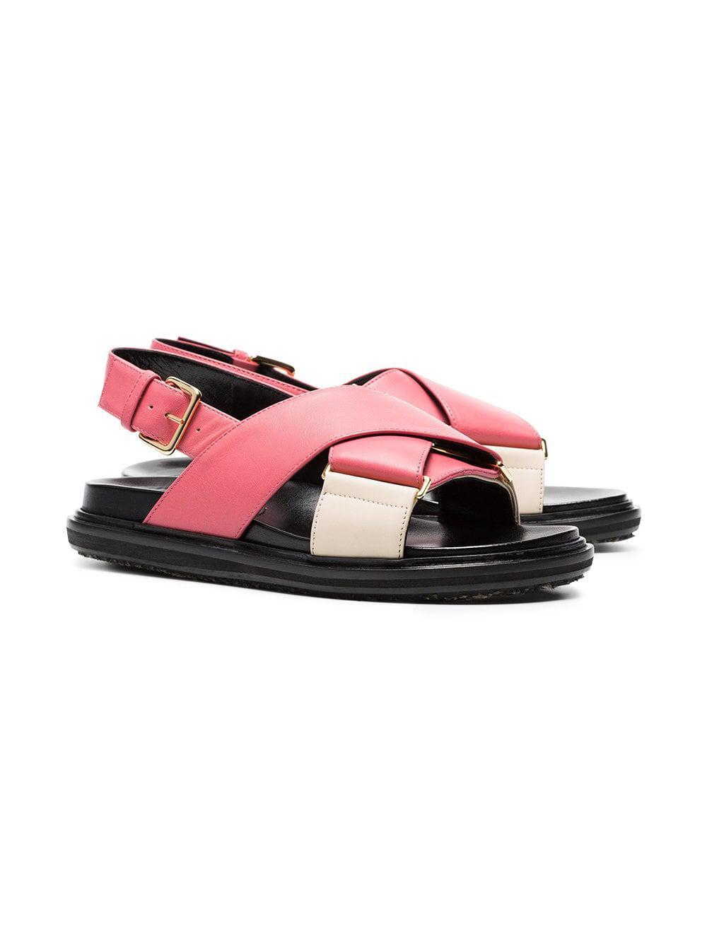 timeless design 2de39 ba4e7 marni-Purple-Pink-Fussbett-Cross-over-Leather-Sandals.jpeg