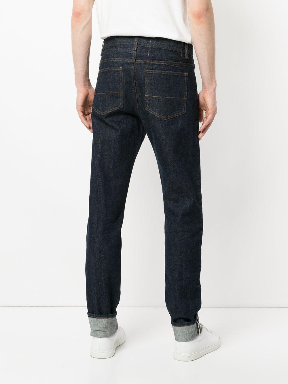 Kent & Curwen Denim Tapered Leg Jeans in Blue for Men