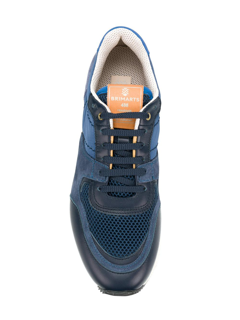 Brimarts Leather Lace-up Sneakers in Blue
