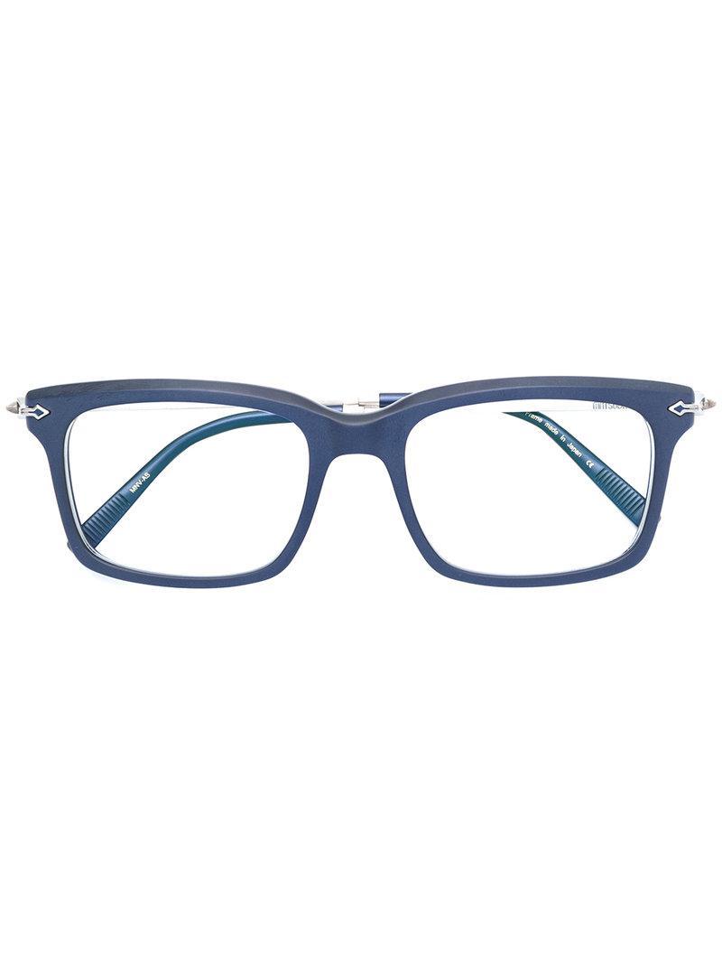 Monture Matsuda Lunettes De En À Pour Coloris Vue Carrée Homme Bleu 0nwOPk8X