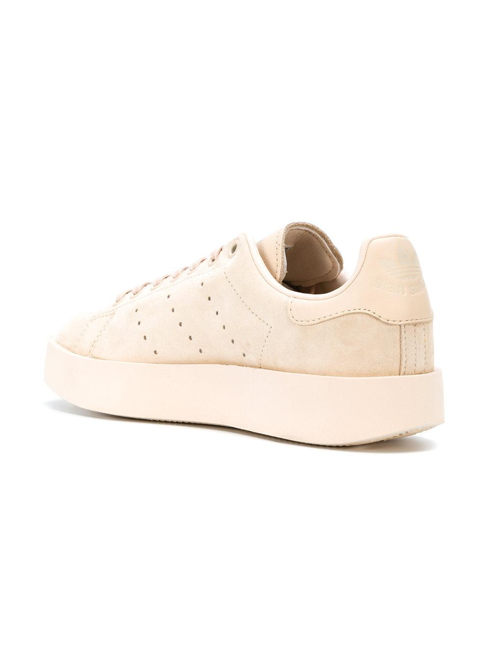 adidas Originals Linen Stan Smith Bold Sneakers in Natural