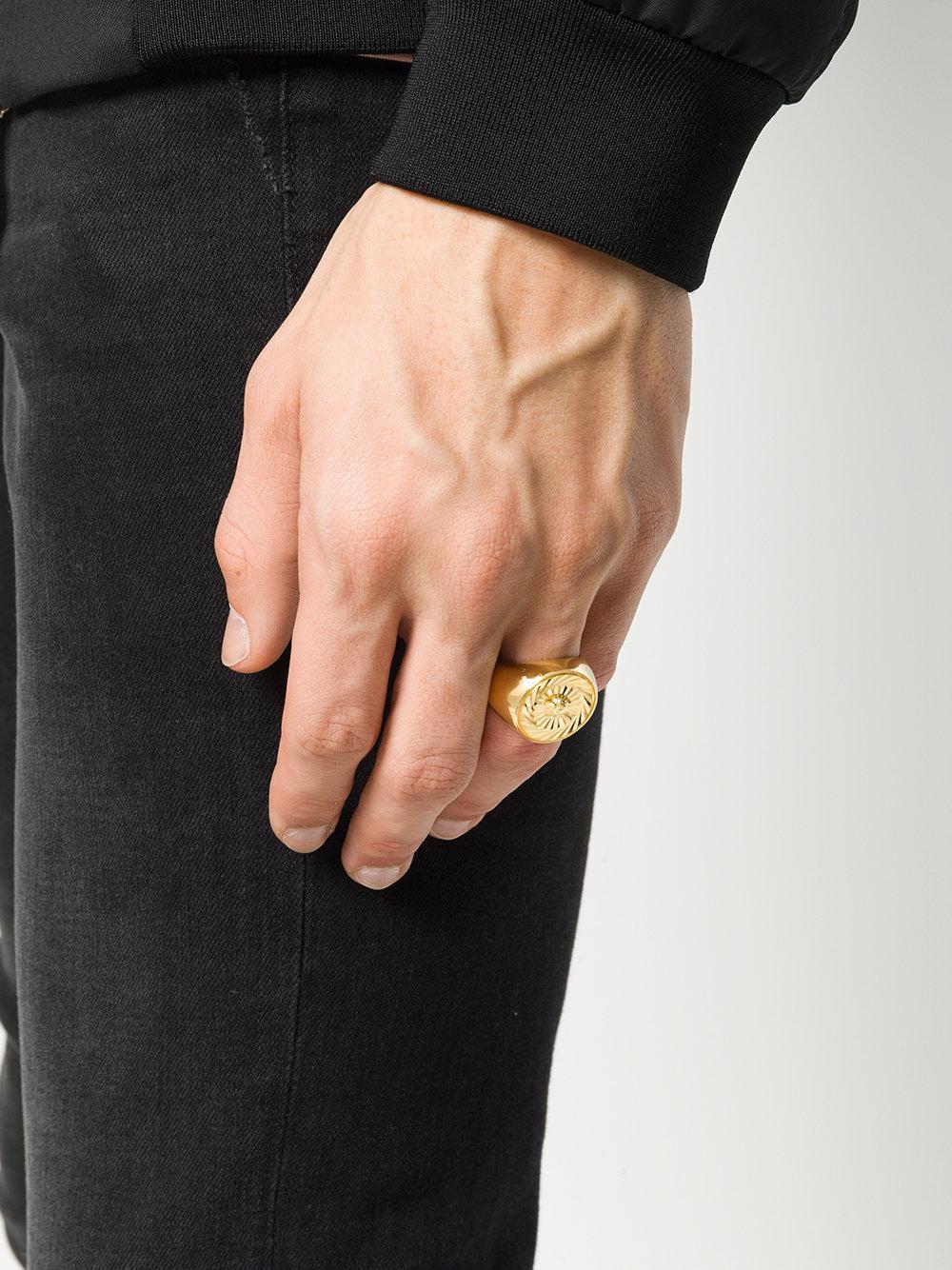 aeedcb9c2f Versace Metallic Medusa Signet Ring for men