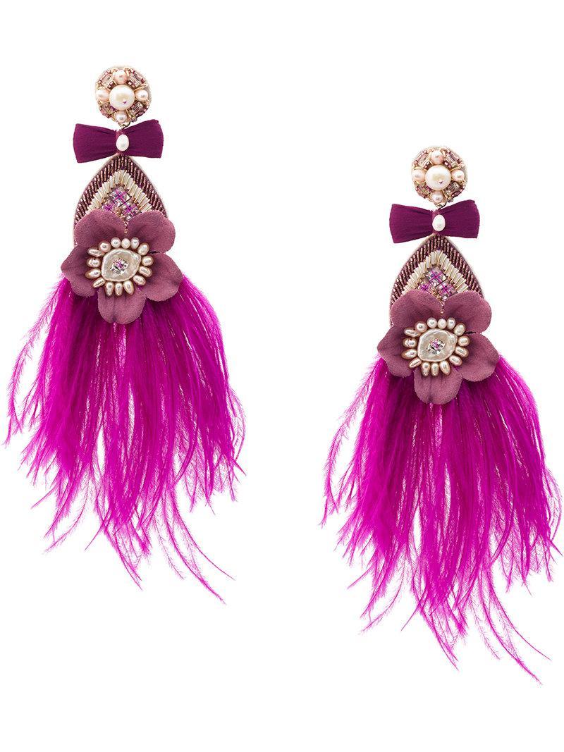 Ranjana Khan Feather Drop Earrings 2GAizRUBI6