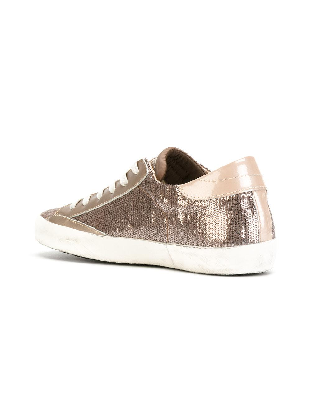 embellished lace up sneakers - Nude & Neutrals Philippe Model E3vBezp
