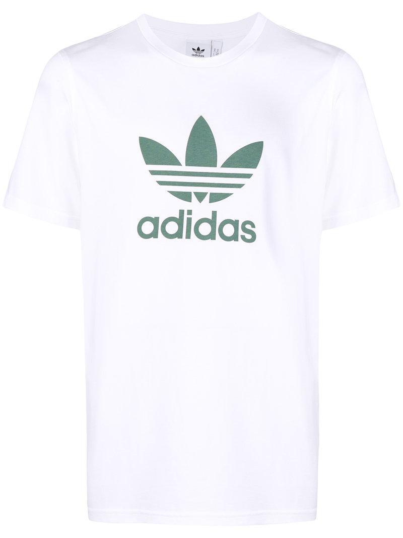 e6788c86b3d0b Adidas - White Originals Trefoil T-shirt for Men - Lyst. View fullscreen