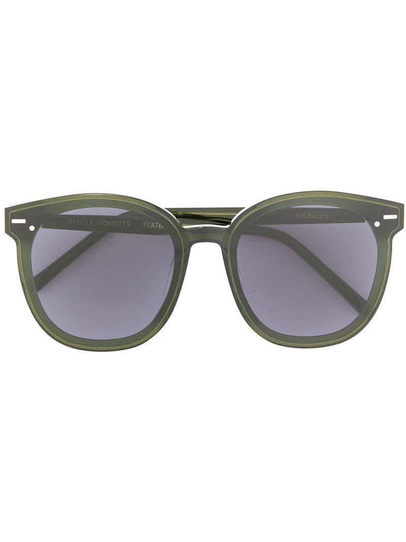 9ea2c58a7c5 Gentle Monster - Green Six Bears Sunglasses - Lyst. View fullscreen
