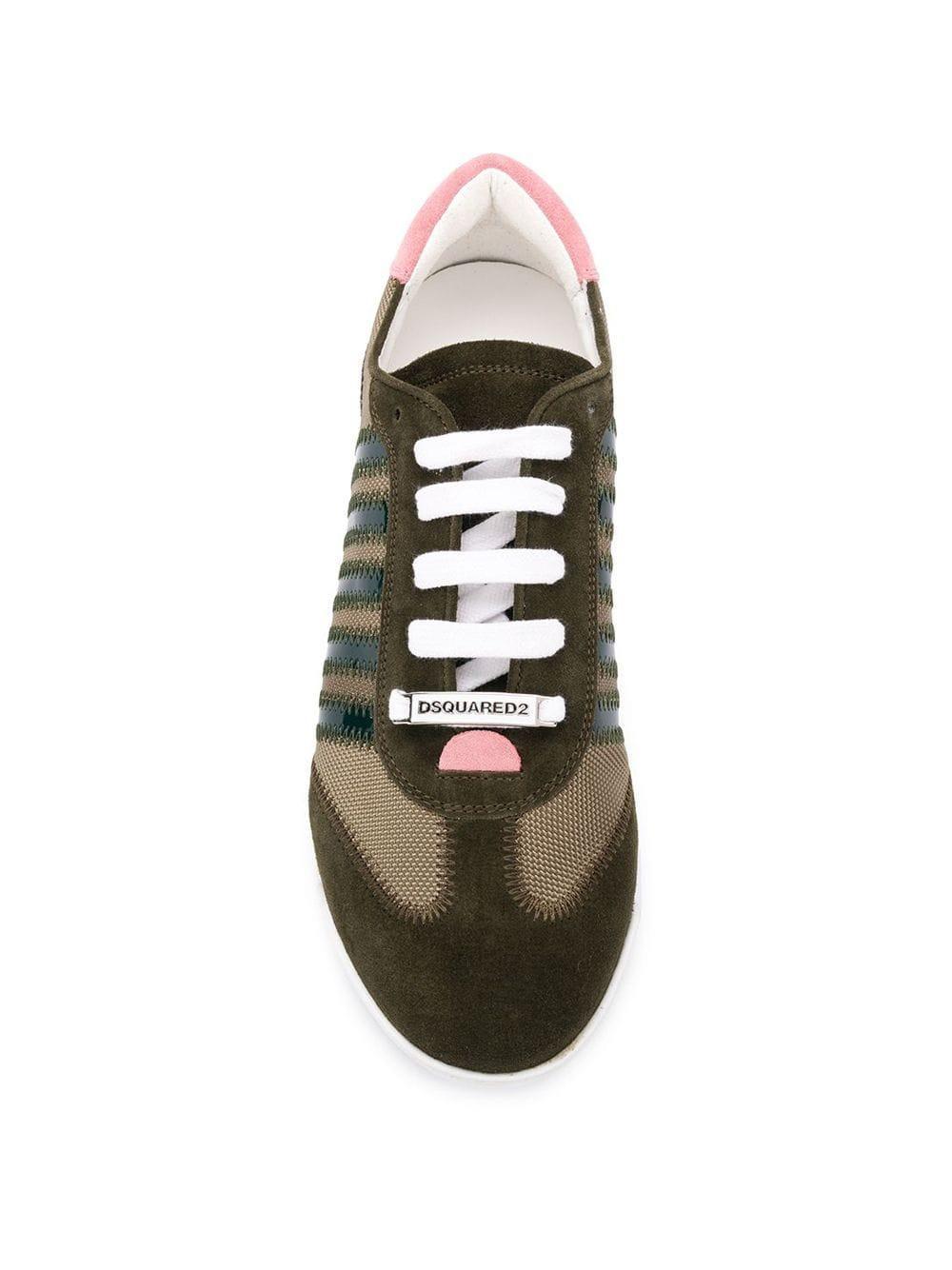 DSquared² Leer Sneakers Met Logo in het Groen voor heren