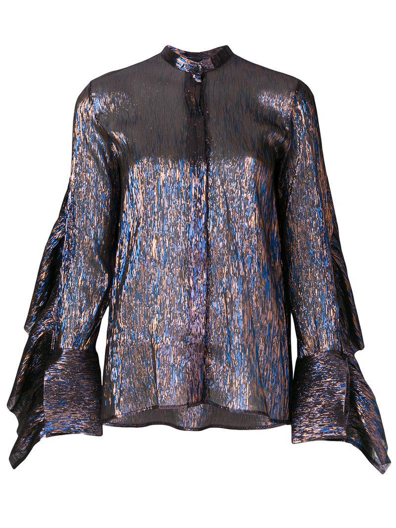 Best Seller Cheap Sale Footlocker Finishline Evan Long Sleeved Blouse Petar Petrov Multi Coloured Clearance New 1ALbaCno