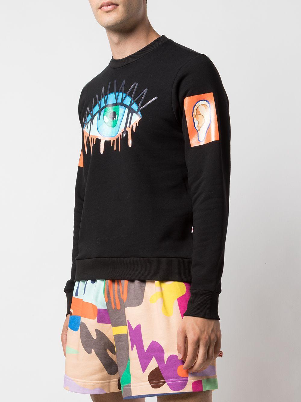 Walter Van Beirendonck Katoen Sweater Met Print in het Zwart voor heren