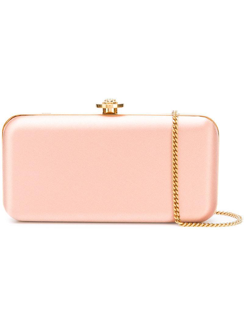 a76f62af Versace Pink Medusa Lock Clutch Bag