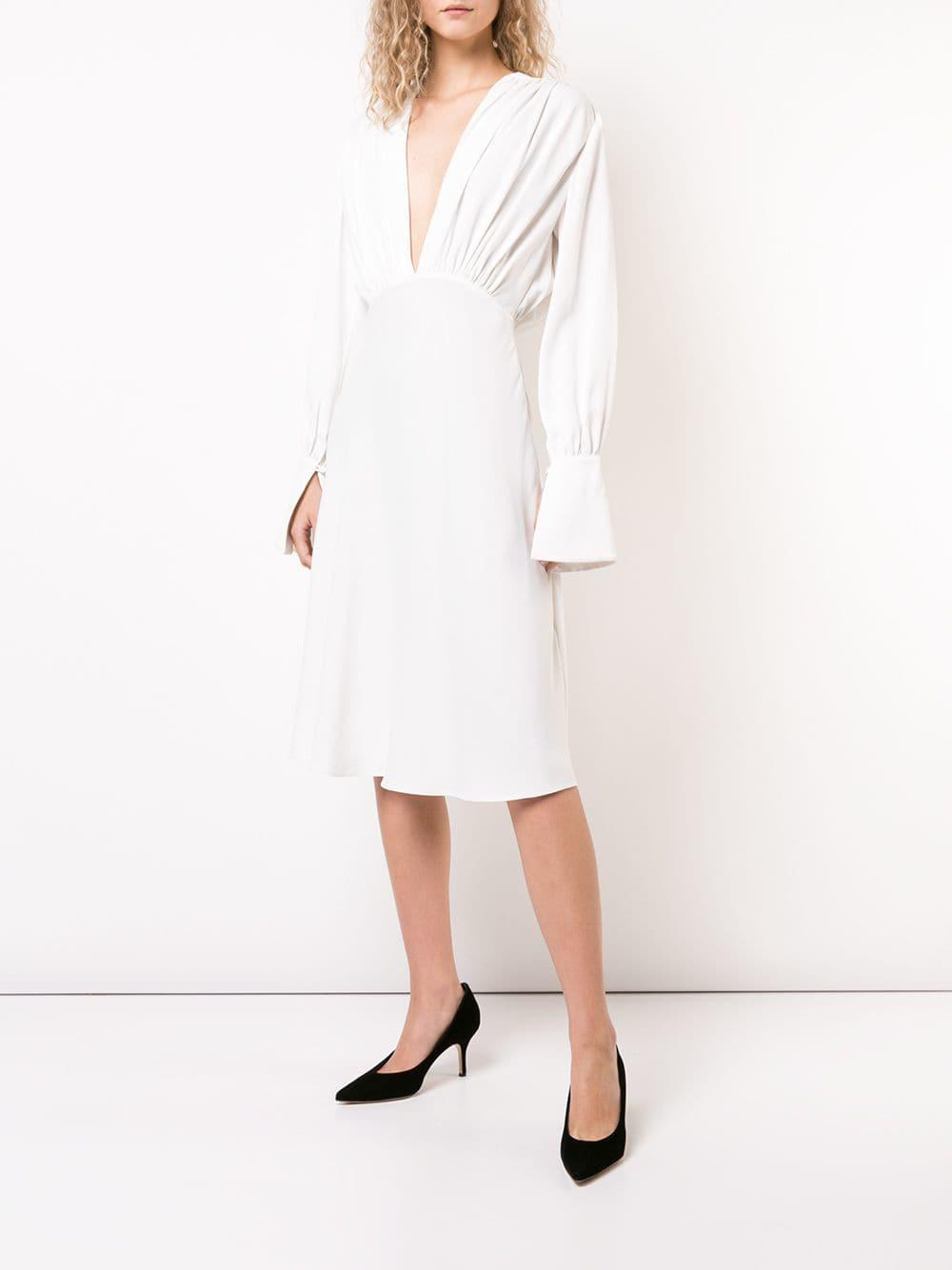 Robe The Connie Synthétique Khaite en coloris Blanc