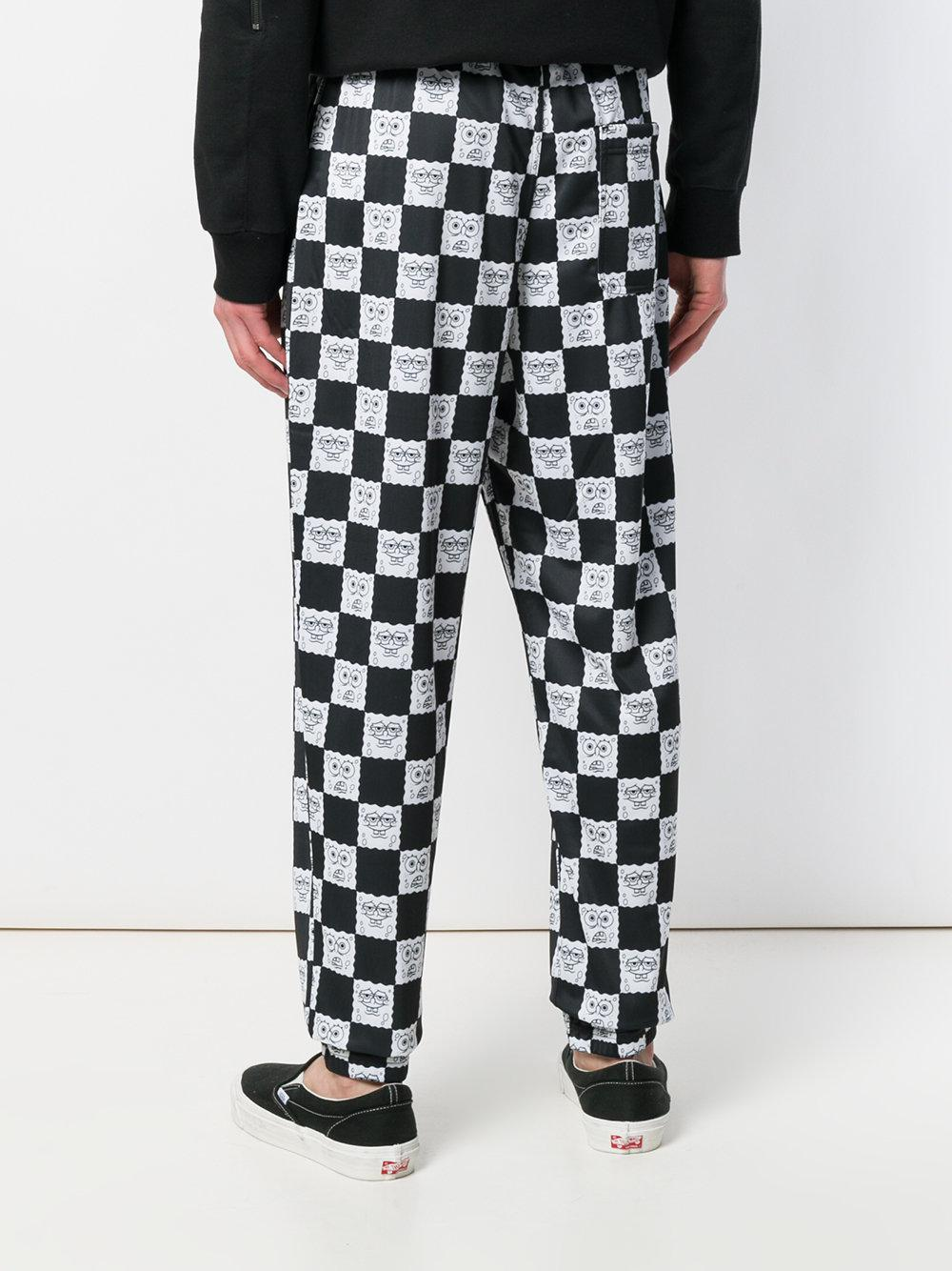 Vans Spongebob Checked Trousers in Black for Men
