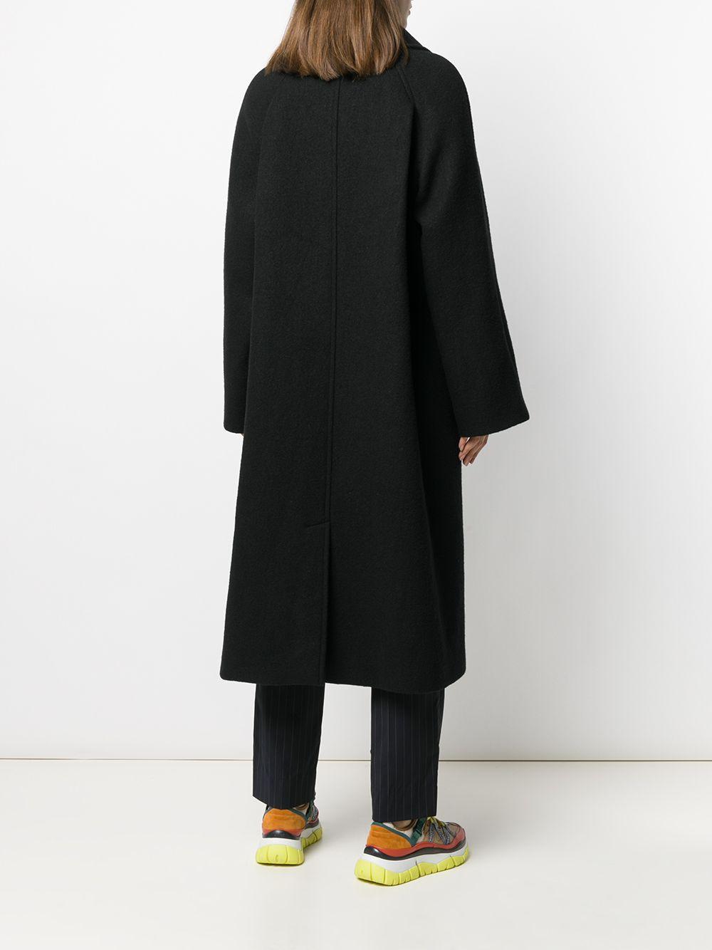 Manteau à encolure asymétrique Loewe en coloris Noir