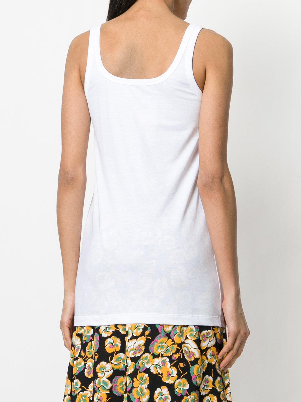 N°21 Cotton Cherie Longline Vest in White