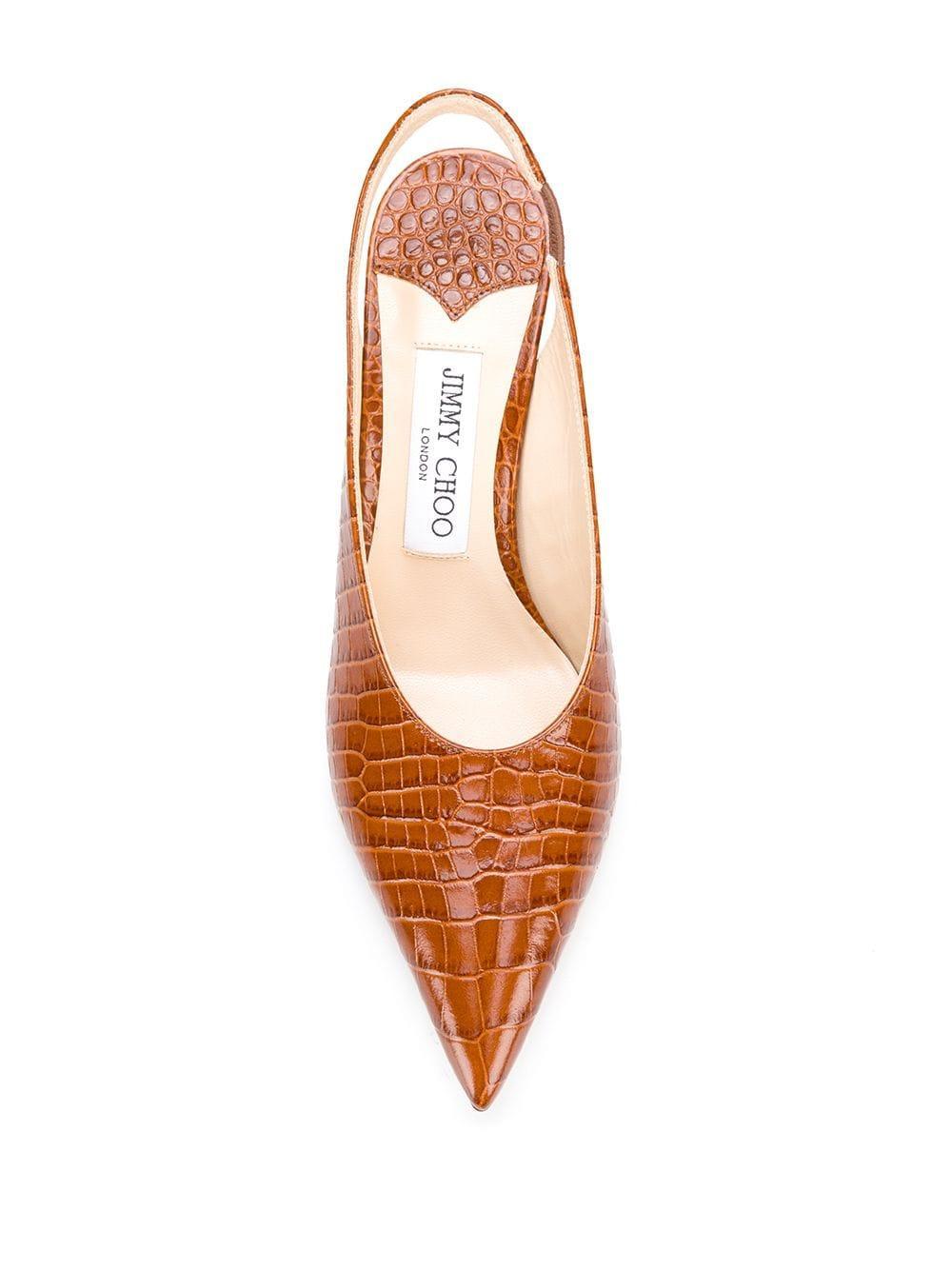 Zapatos de tacón Ivy 85 Jimmy Choo de Cuero de color Marrón