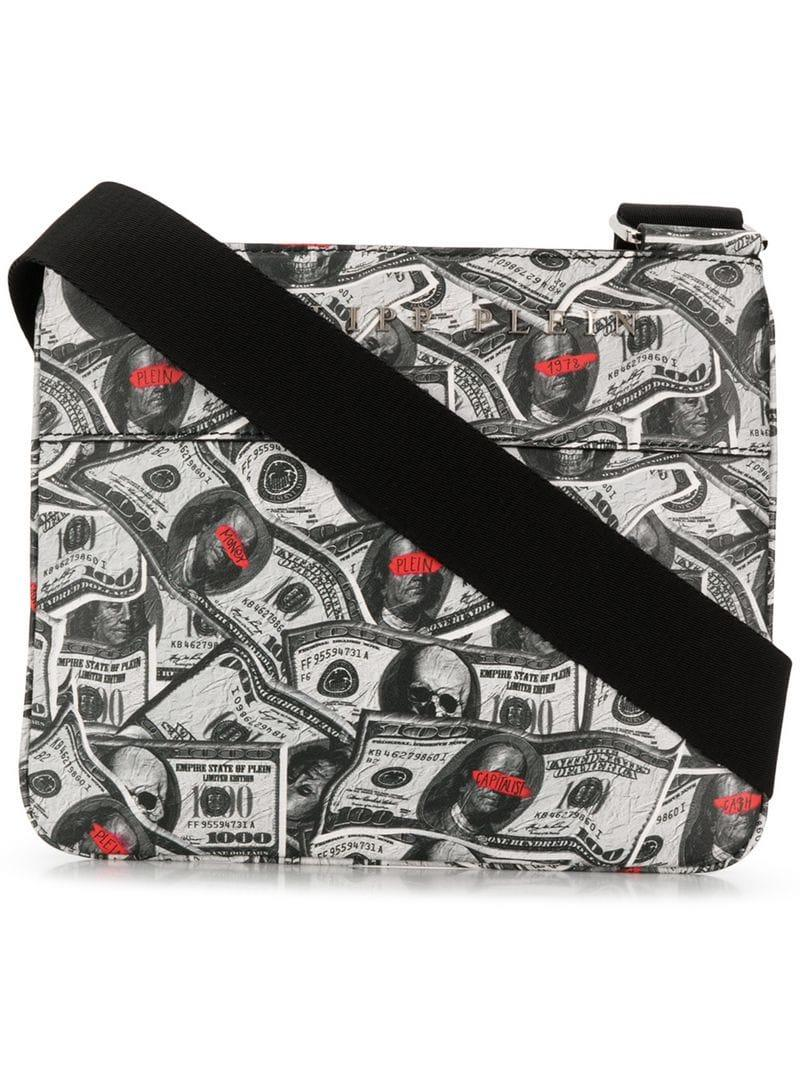 0c6b667b48 Philipp Plein Dollar Shoulder Bag in Gray for Men - Lyst