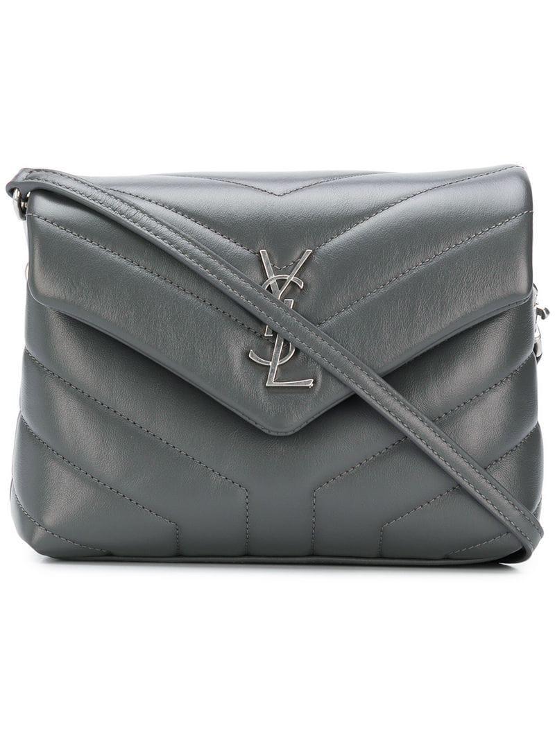 Lyst - Saint Laurent Loulou Toy Shoulder Bag in Gray 24a511c6a44de
