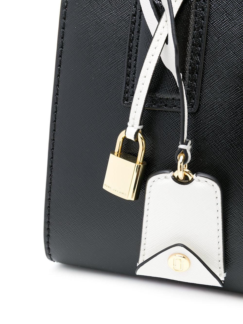 Marc Jacobs Leather Little Big Shot Tote in Black