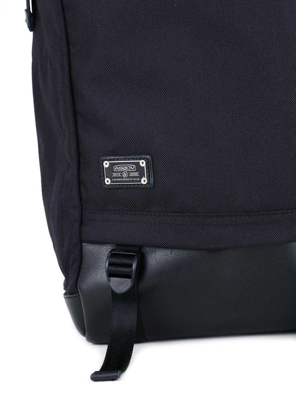 AS2OV Synthetic Ballistic Backpack in Black for Men