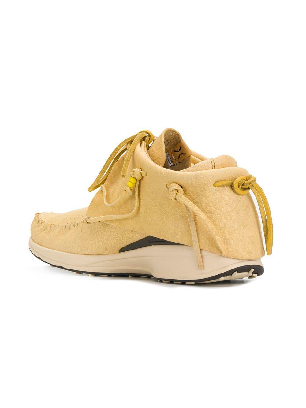 Zapatillas Red Deer Visvim de Cuero de color Amarillo para hombre