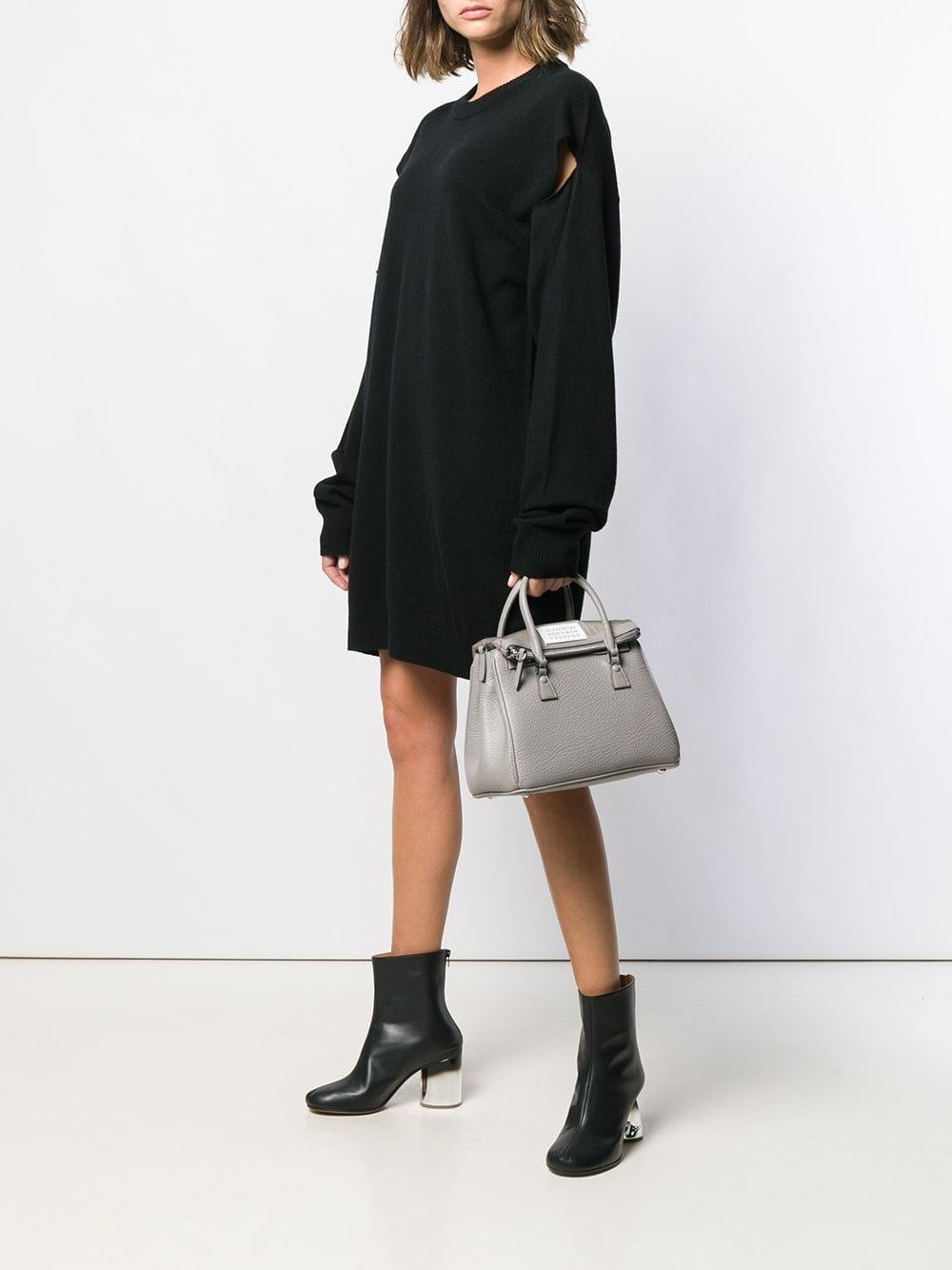 Vestido de punto con aberturas Maison Margiela de Lana de color Negro