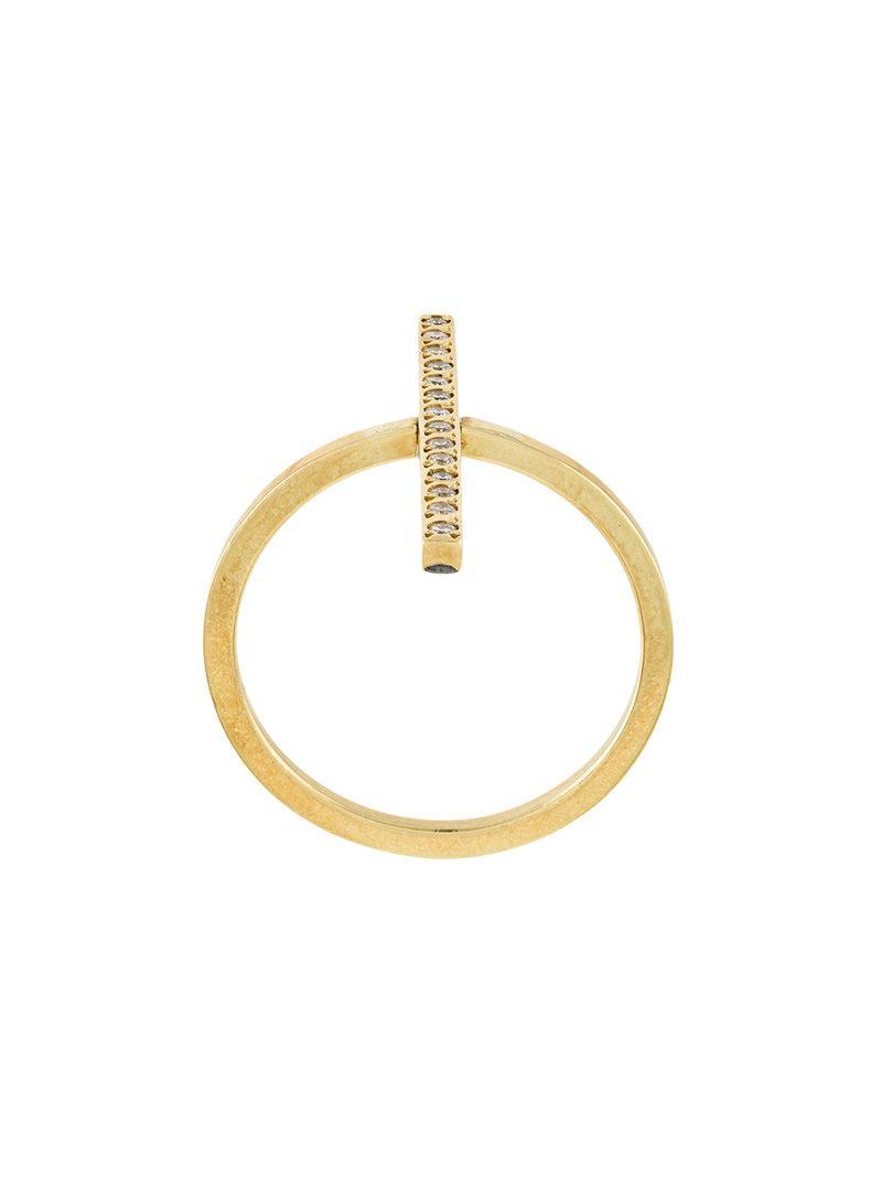 Ileana Makri Double Bar Ring in Metallics SDWncqSfX4