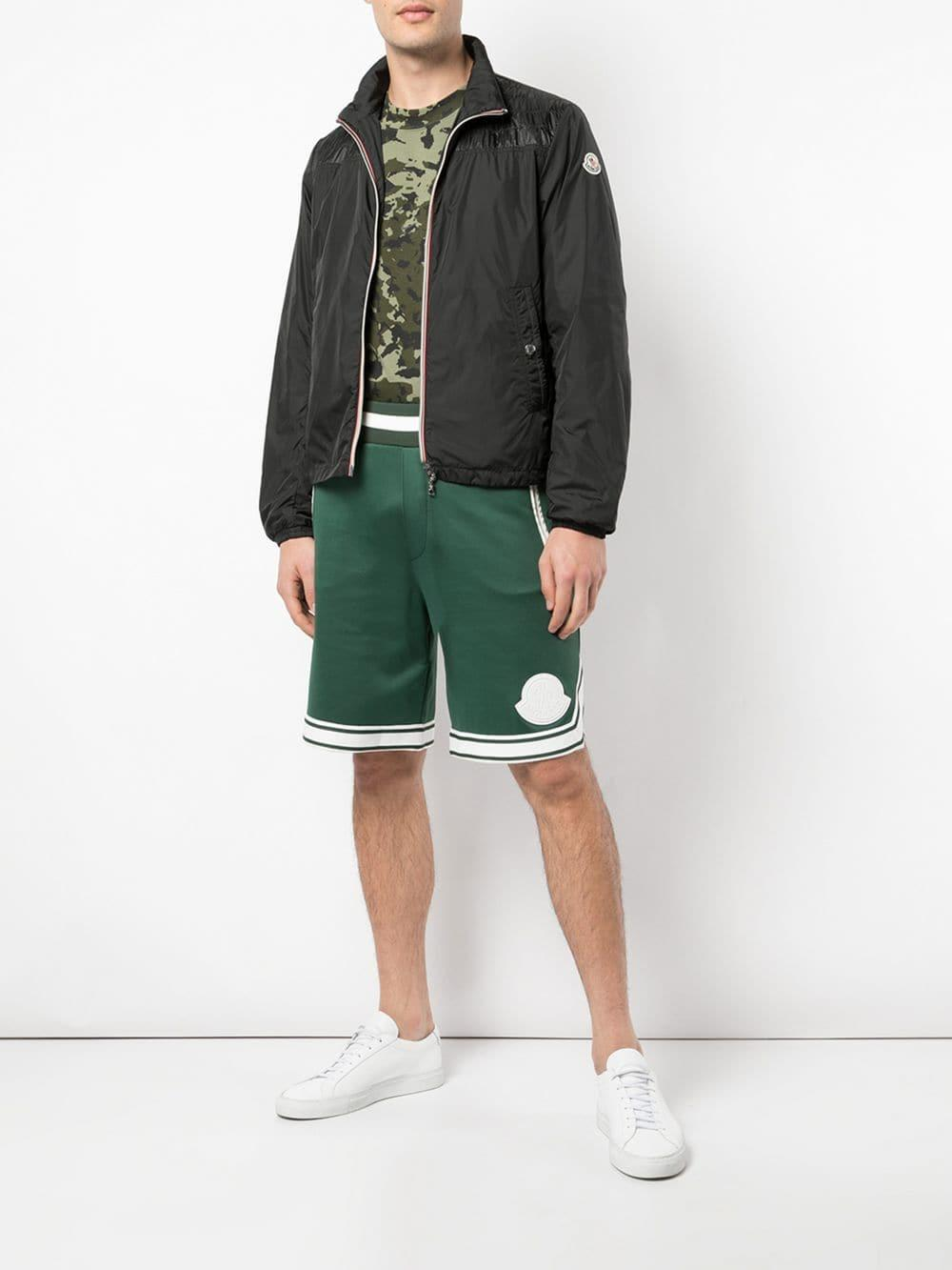 fec55bf48e97 Lyst - Moncler Stripe Detail Shorts in Green for Men