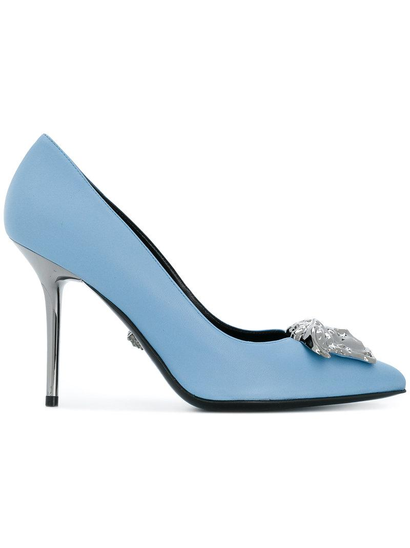 Versace Leather Medusa Head Pumps in