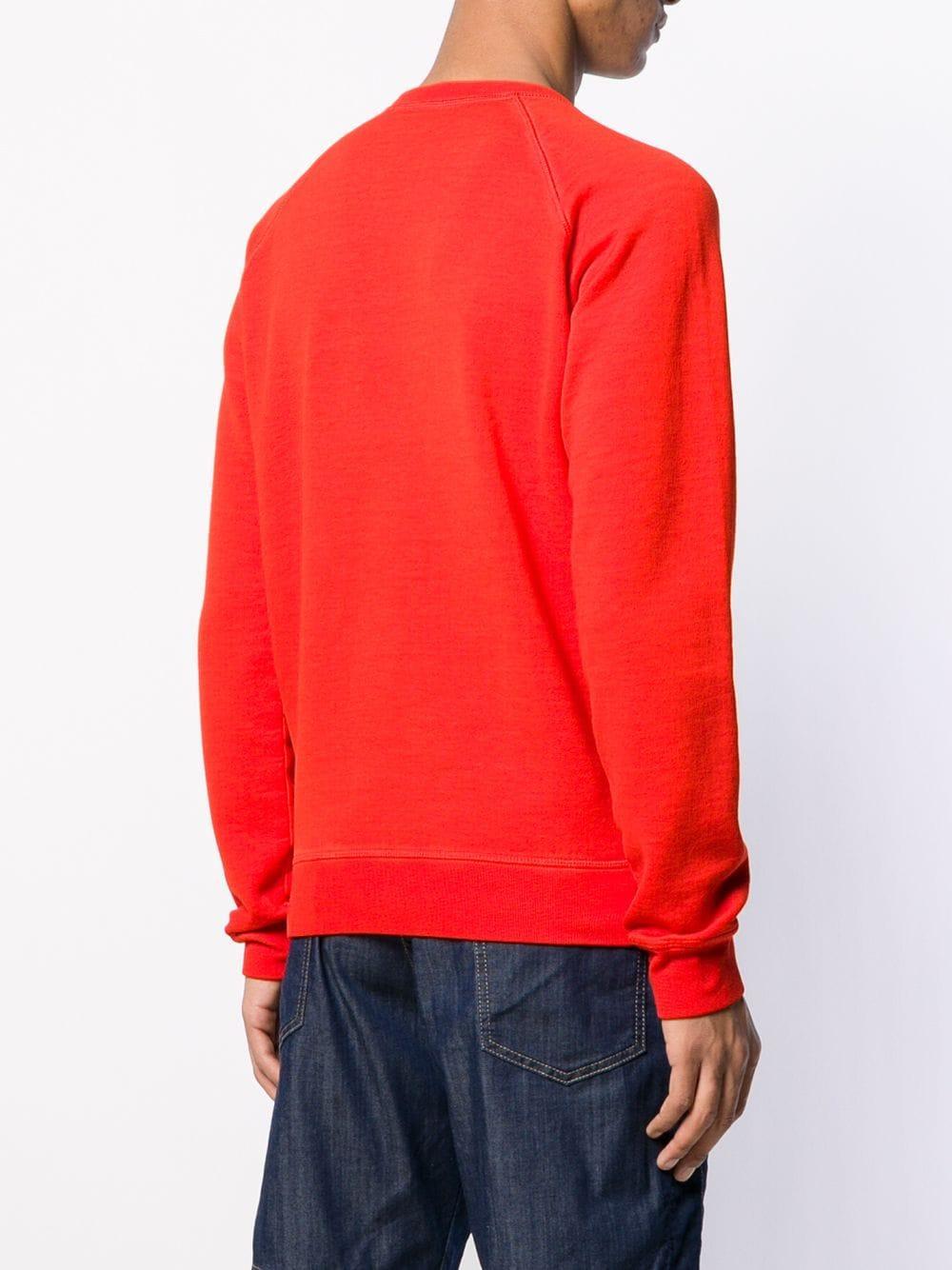 DSquared² Katoen Grafische Sweater in het Rood voor heren