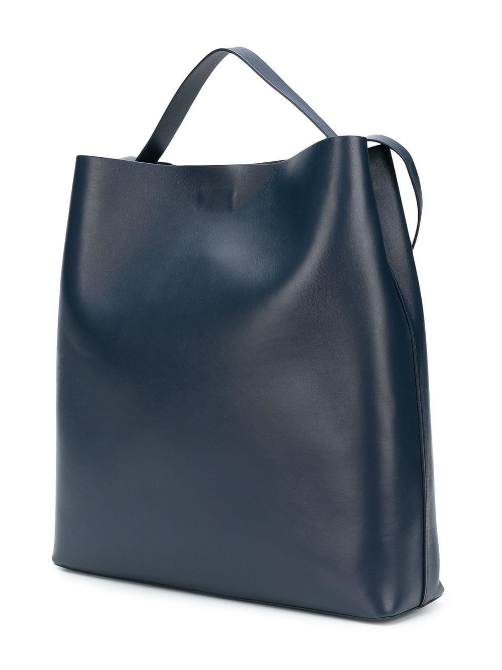Aesther Ekme Leather Sac Tote Bag in Blue