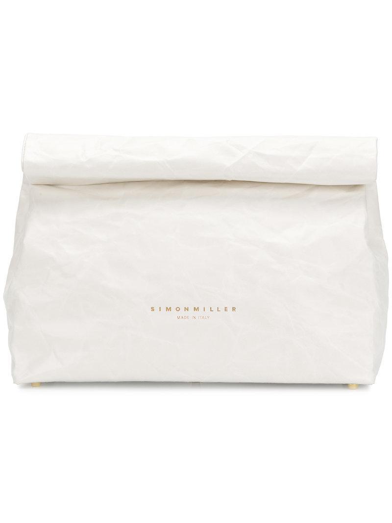 paper bag tote - White Simon Miller EseU7