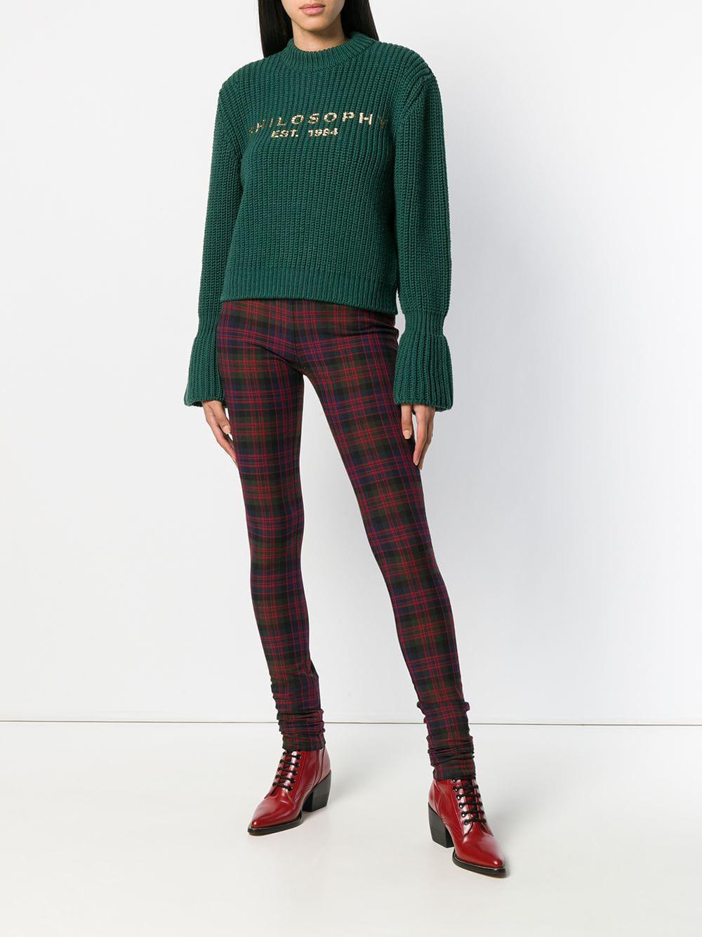 Plaid trousers Synthétique Philosophy Di Lorenzo Serafini en coloris Rouge