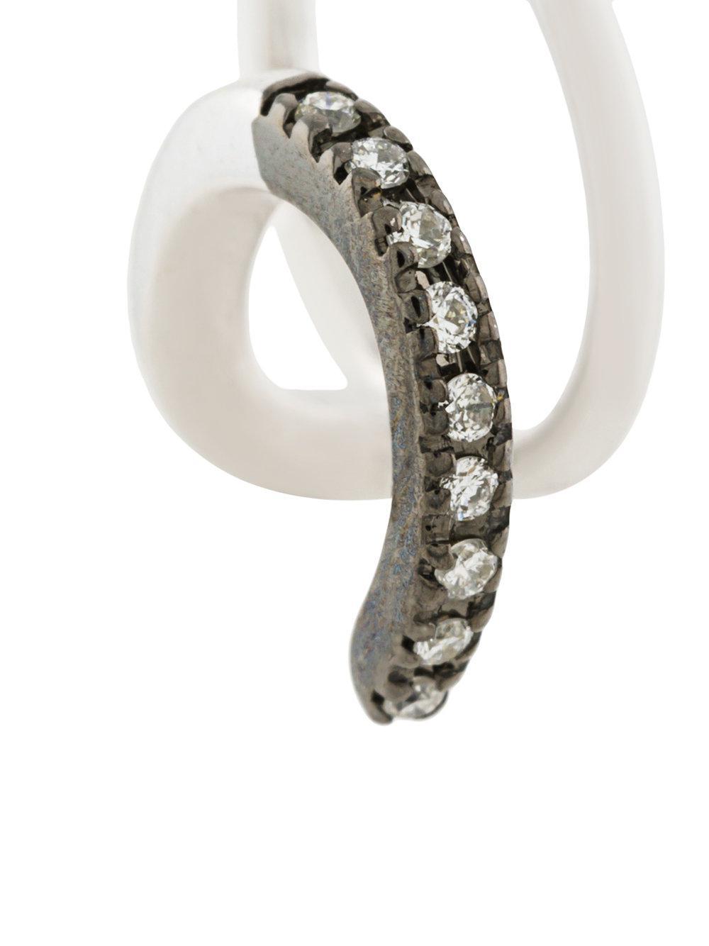 Maria Black 14kt gold Manon Mono diamond earring - Metallic z9jPukUna