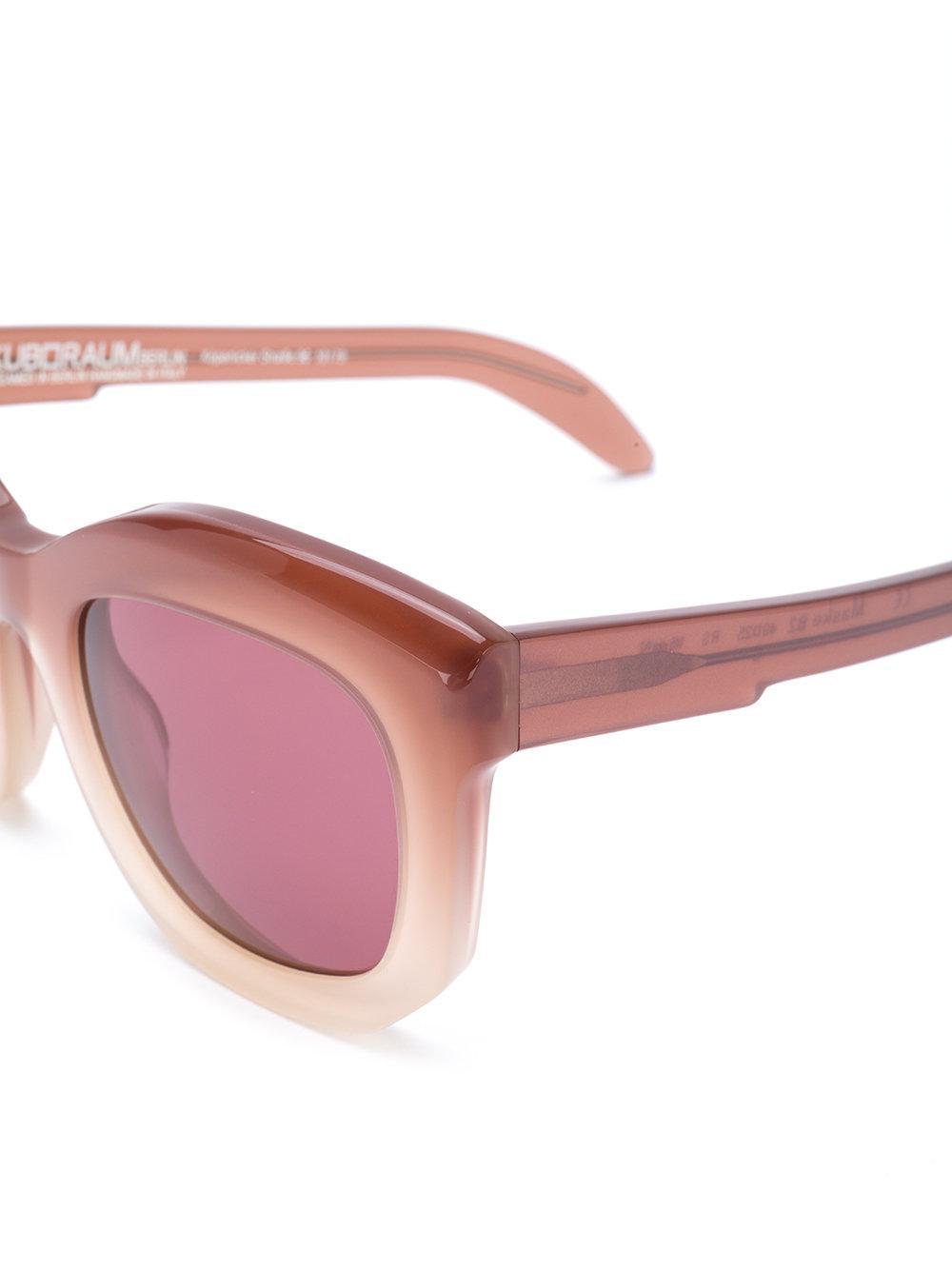 Kuboraum B2 Sunglasses in Pink & Purple (Pink)