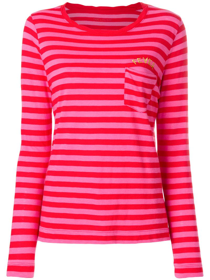 delicate colors classic shoes new appearance Zadig & Voltaire Cotton Regy Striped Top in Red - Lyst