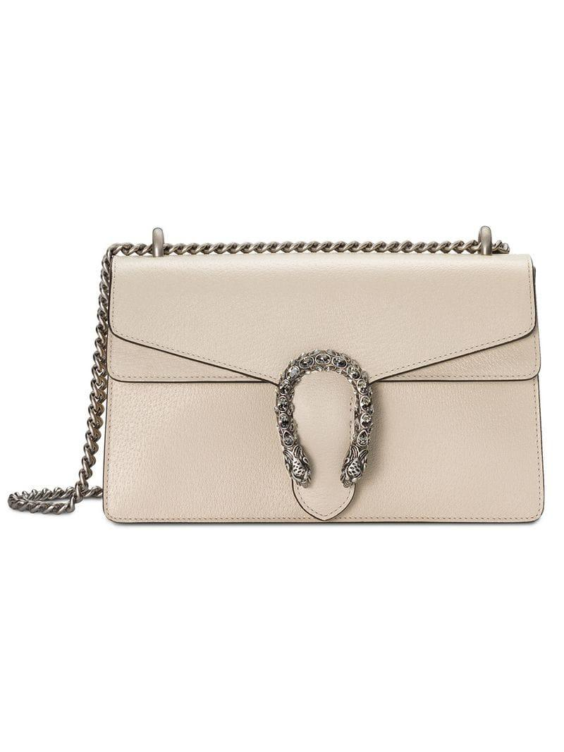 a52f32eae87c Gucci Dionysus Small Shoulder Bag in Natural - Lyst
