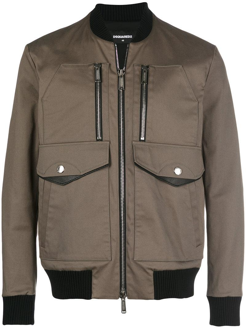 DSquared² Cotton Jacket in Lead (Grey) for Men