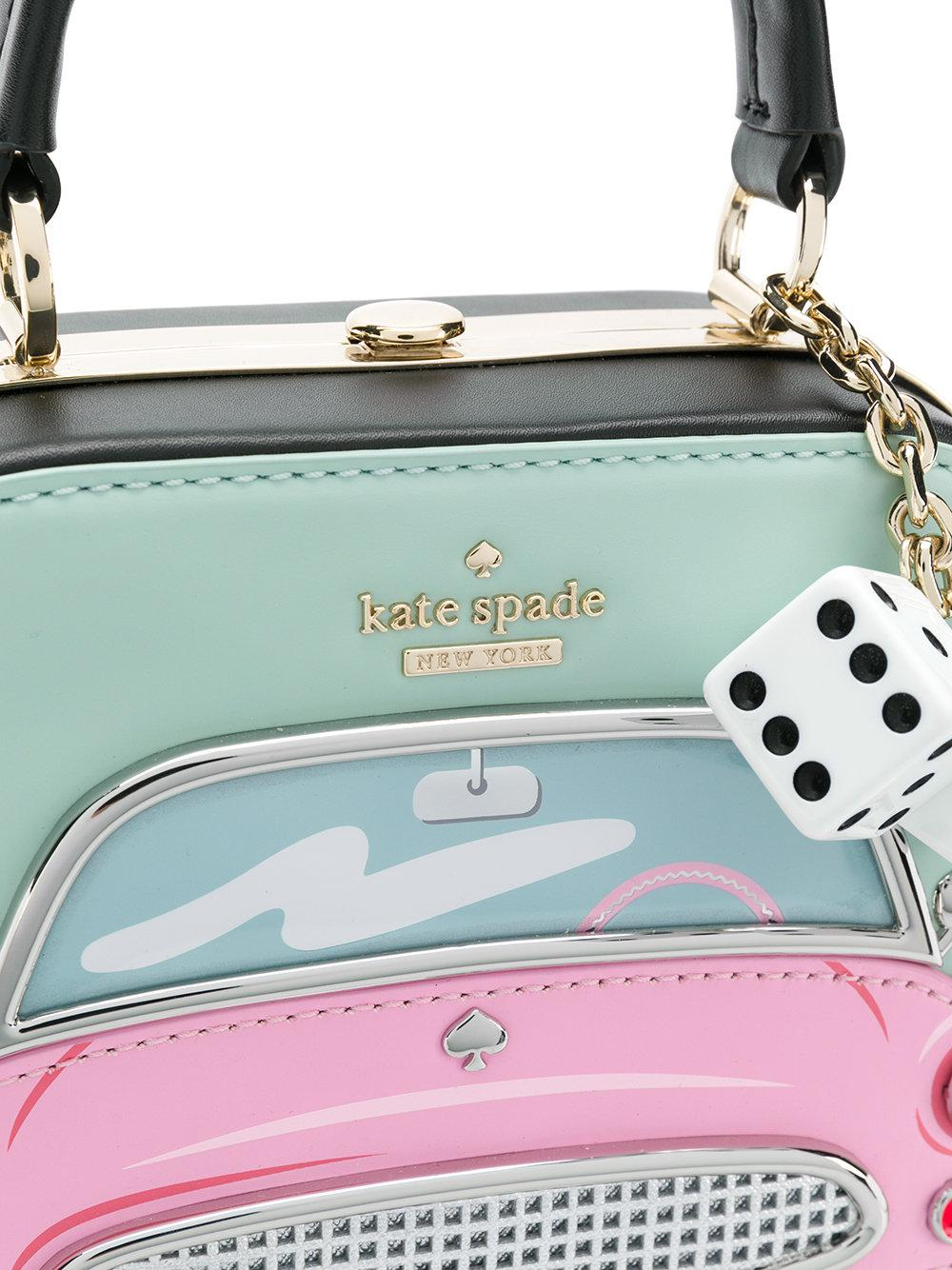 Kate Spade Leather Travel Motif Crossbody in Blue