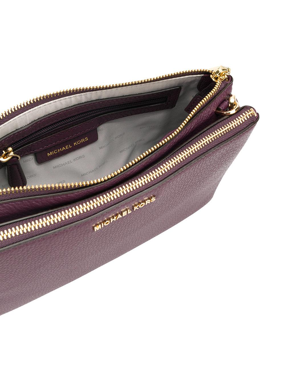 MICHAEL Michael Kors Leather Pebble Crossbody Bag in Pink & Purple (Purple)