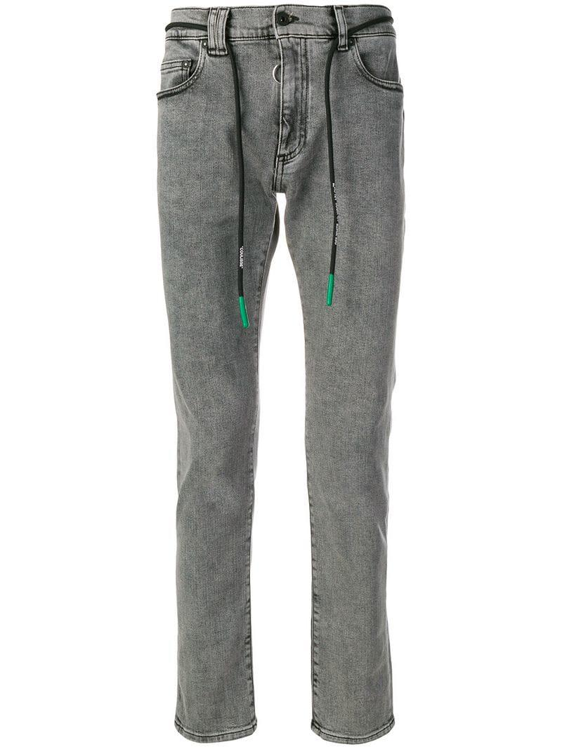 c8c7c212c1a1 Lyst - Off-White c o Virgil Abloh Slim-fit Jeans in Gray for Men
